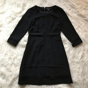 BANANA REPUBLIC BLACK 3/4 LASER CUT DRESS